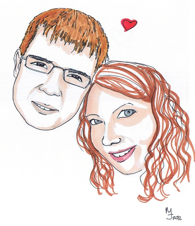 reddit gets drawn couple Lettraset Markers