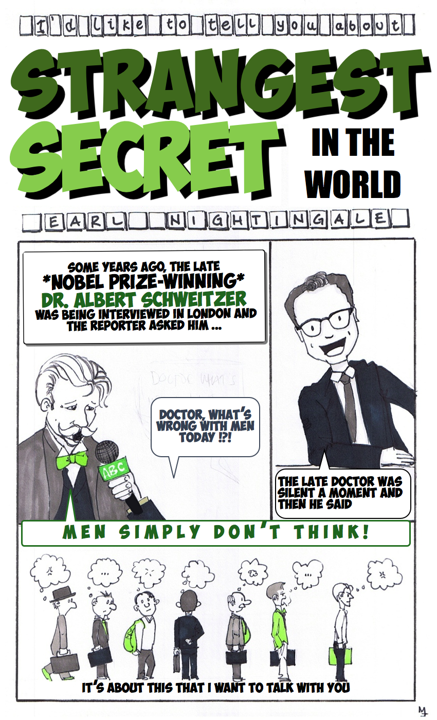 The Stangest Secret Earl Nightingale illustrated sketchnote