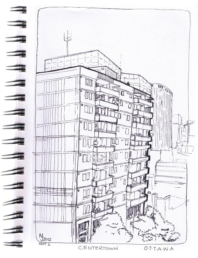 Apartment Building Drawing mariejudith: ottawa apartment building