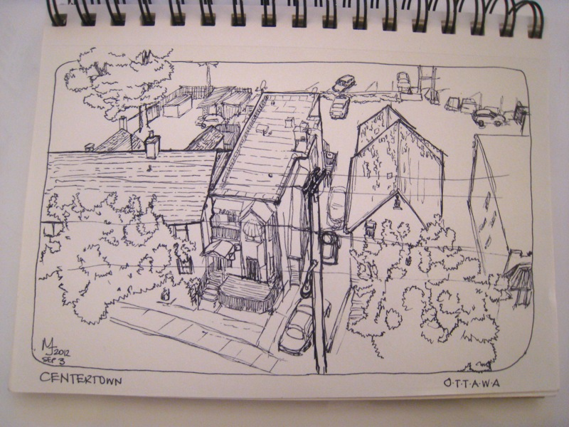 MJ SKETCHBOOK | Apartment building and commercial buildings - Centertown, Ottawa