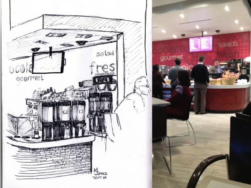 MJ SKETCHBOOK | Las Vegas - Vdara Market Cafe