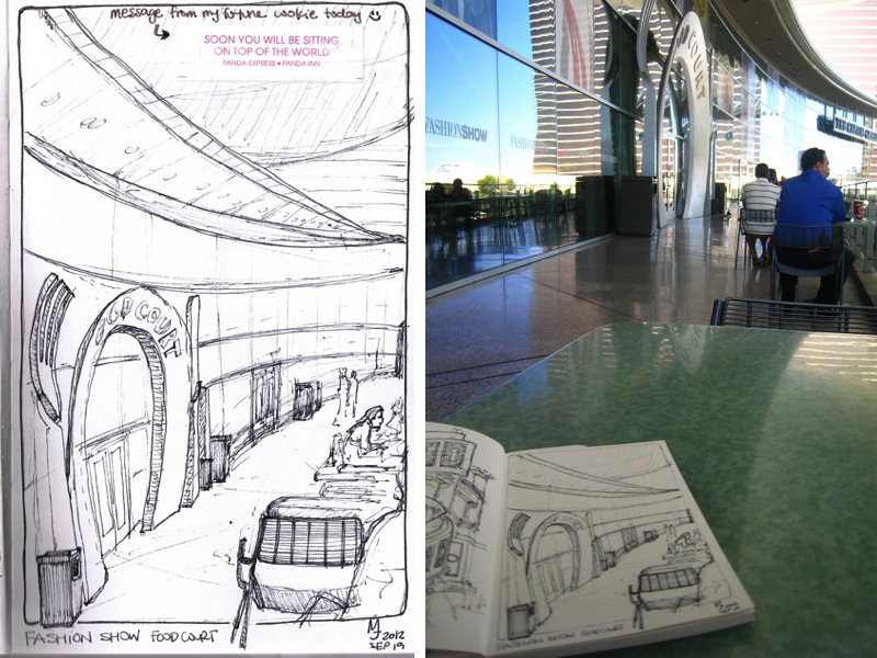 MJ SKETCHBOOK | Las Vegas - Fashion Show Food Court