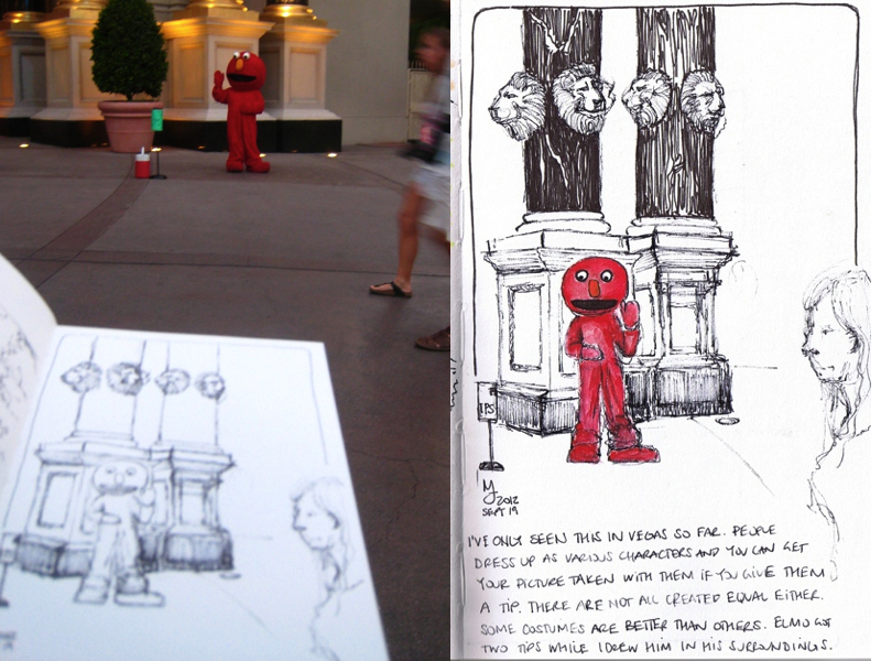 MJ SKETCHBOOK | Las Vegas strip street performer