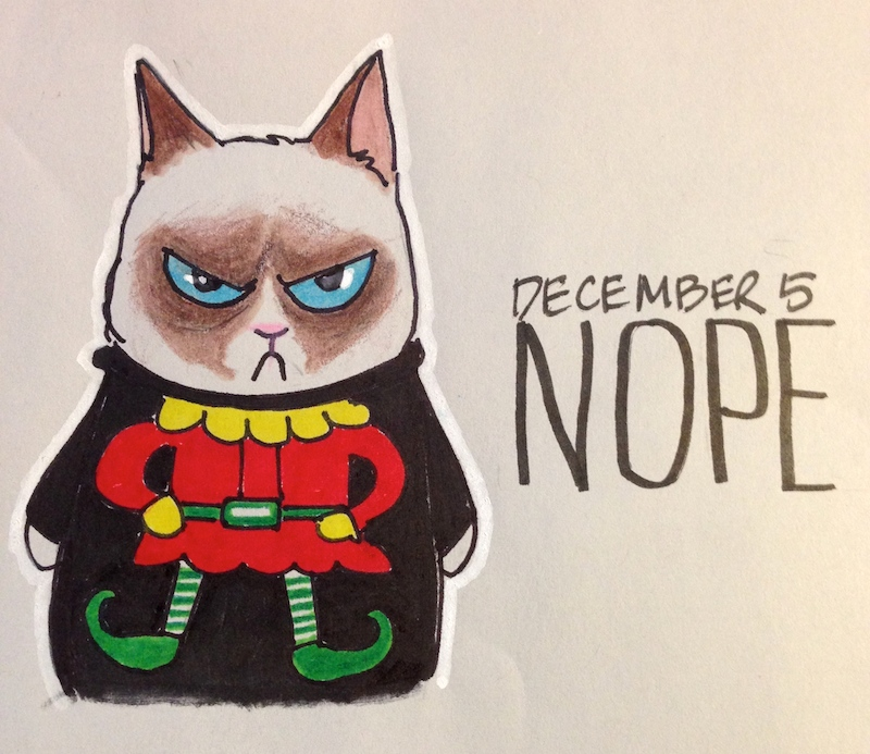 Grumpy Cat, Holidays, Elf, Christmas Sweater, Santa's Little Helper