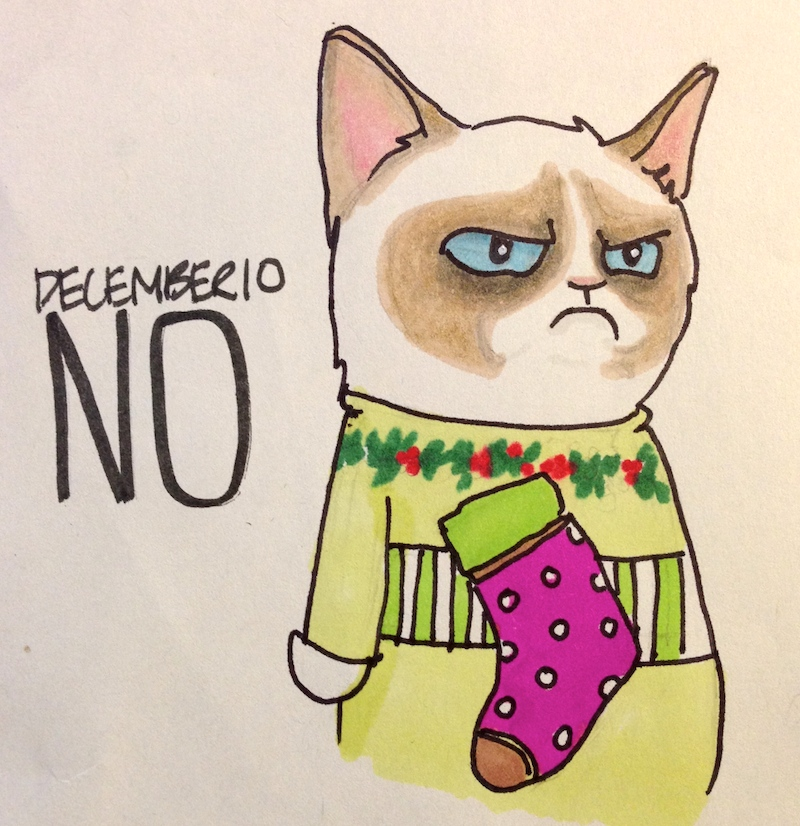Grumpy Cat in Holiday Sweater, Christmas