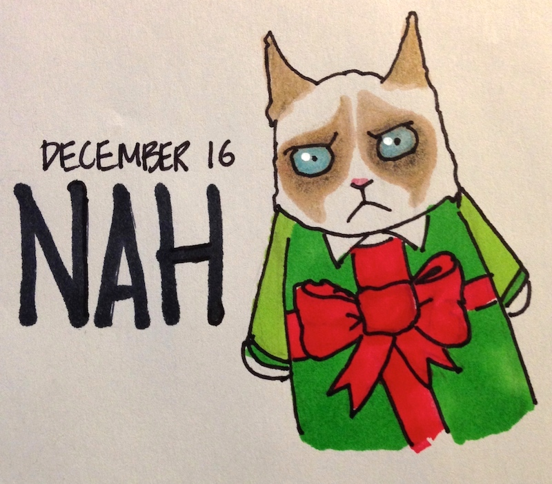 Grumpy Cat in Holiday Sweater, Christmas gift