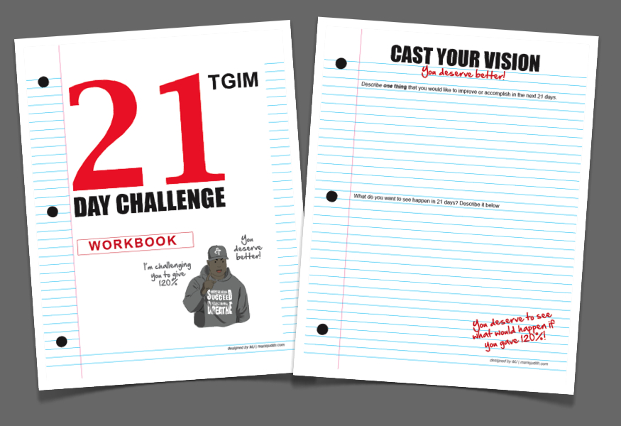 TGIM 21-day Challenge workbook