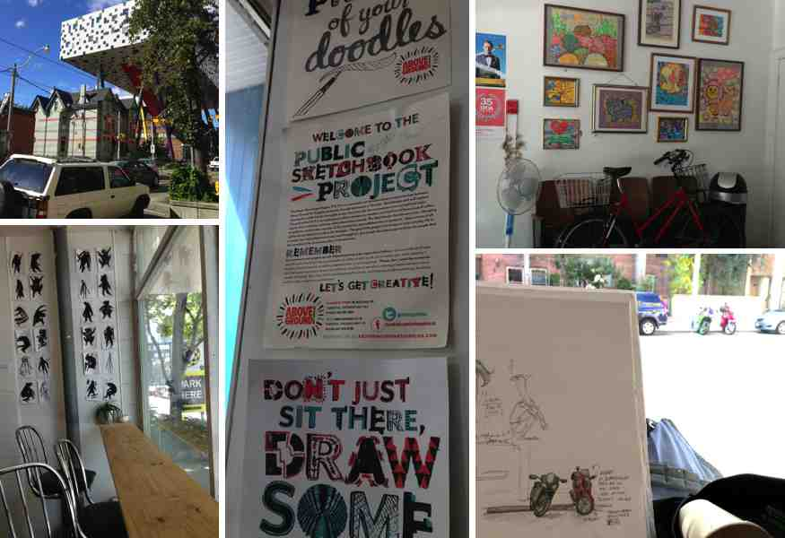 toronto urban sketchers coffee shop