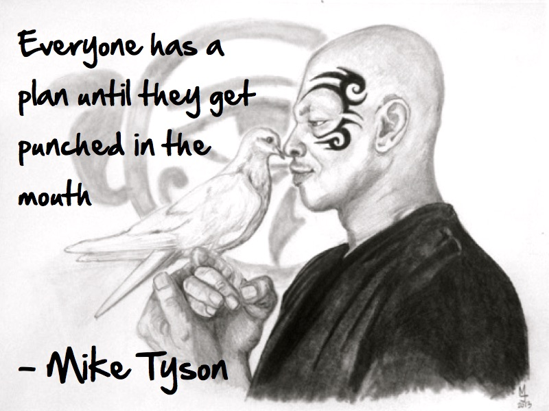 Mike Tyson quote portrait by MJ