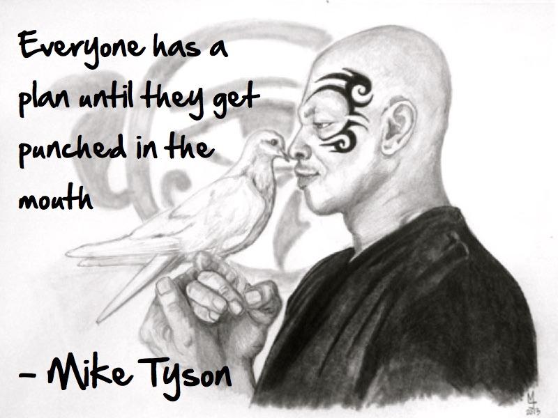 Mike Tyson quote portrait by MJ