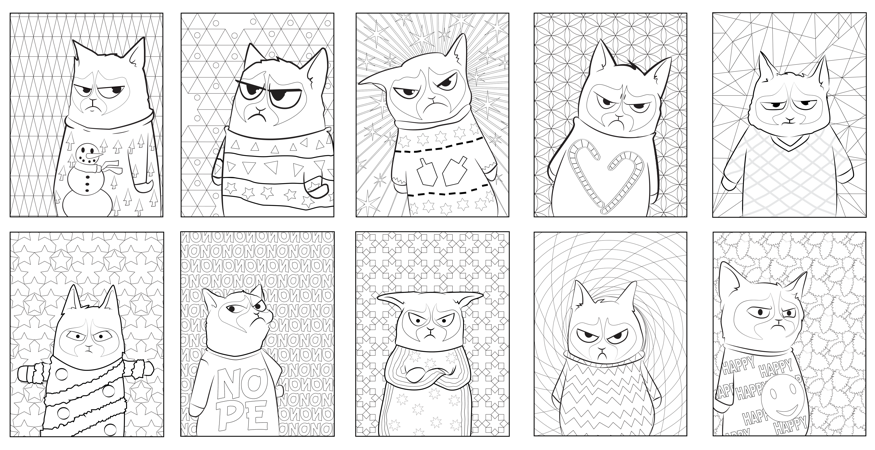Ten Down Twenty To Go The Challenge Continues For Grumpy Cat Colouring Pages