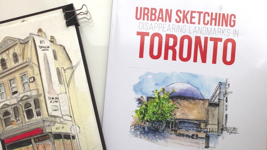 Urban Sketching Disappearing Landmarks in Toronto Book on Amazon Urban Sketchers