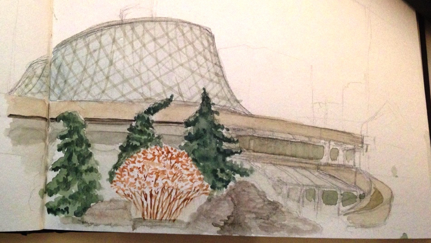 Roy Thomson Hall Toronto Urban Sketchers Watercolor Sketch